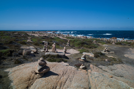 English cemetery in death coast, galicia, Spain