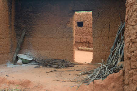mud house in caratheristic village in Burkina Faso