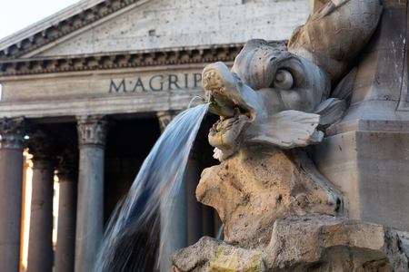 Detail of statue in Piazza Navona,Rome Editorial
