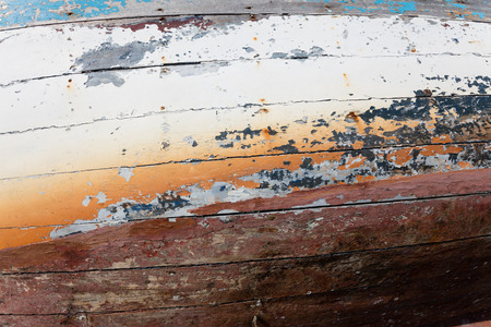 background of a colorful wooden boat, texture, wallpaper
