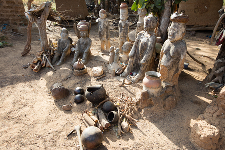 Fetish in Lobi village, in which there is animistic cult Editorial