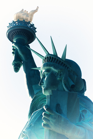La Statue de la Liberté conçue par Auguste Bartholdi, a été construite par Gustave Eiffel Banque d'images