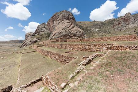 Pukara ruins, near the city of Cuzco,Peru Imagens