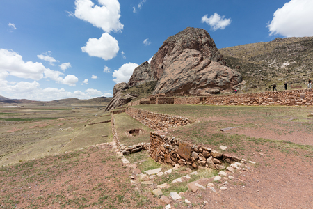 Pukara ruins, near the city of Cuzco,Peru 版權商用圖片