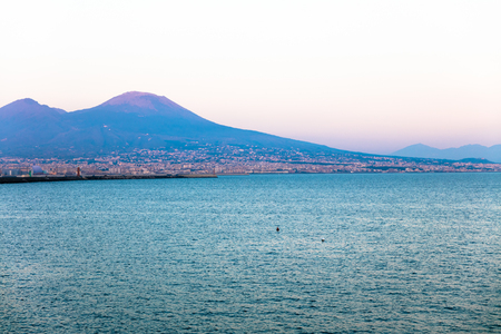 Panorama of Naples,  Italy Stock Photo
