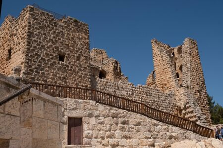 Ajloun Castle in north-western Jordan. Arab and crusaders fort.