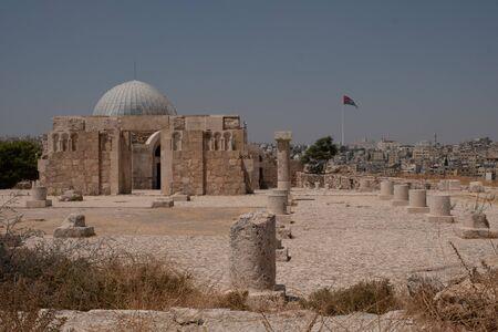 ruins in the citadel in Amman, Jordan