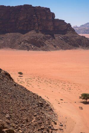 Panorama of Wadi Rum desert, Jordan