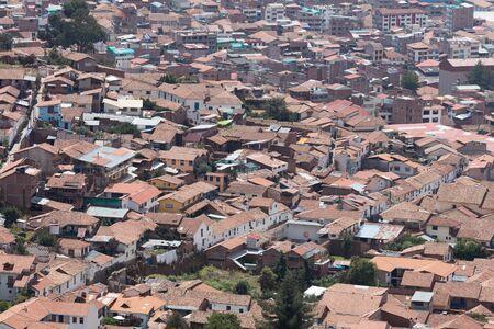 View of Cuzco  from  Fortress of Saqsaywaman, Peru Stock fotó