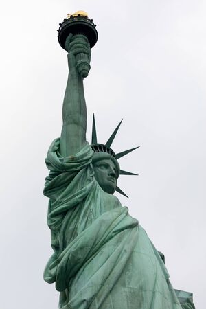 The Statue of Liberty in NYC designed by Frédéric Auguste Bartholdi, , was built by Gustave Eiffel Stock fotó