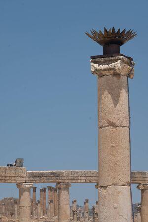 Jerash (Gerasa), ancient roman capital and largest city of Jerash Governorate, Jordan, Stock fotó