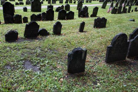 Boston, Massachusetts,. Granary Burying Ground - old cemetery. Stock fotó