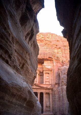 View from Siq on entrance of City of Petra, Jordan Stock fotó