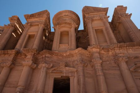 The Monastery, Petras largest monument, in Jordan.