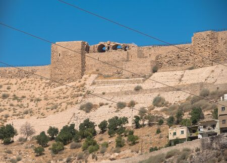 medieval crusaders castle, Al Karak, Jordan, Middle East
