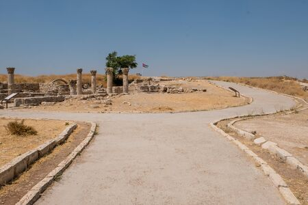 ruins in the citadel in Amman, Jordan