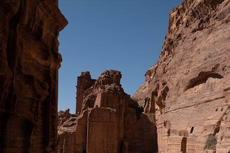 Ruins of Petra, Jordan Stock Photo