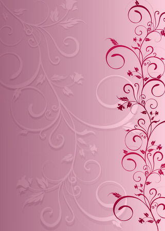 branch is pink  with a bluebell and spirals on an abstroktnom background Vector