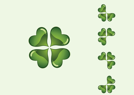 chinks: Clovers, St. Patricks day on a green abstract background