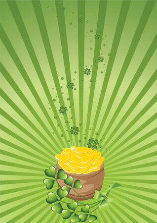 chinks: design for St. Patricks Day 2 on a green abstract background
