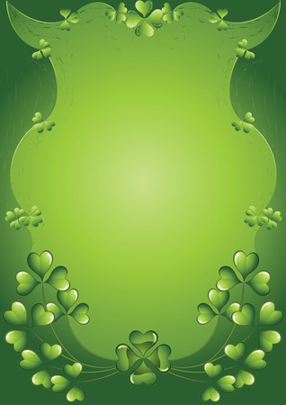 chinks: St Patricks Day on a green abstract background