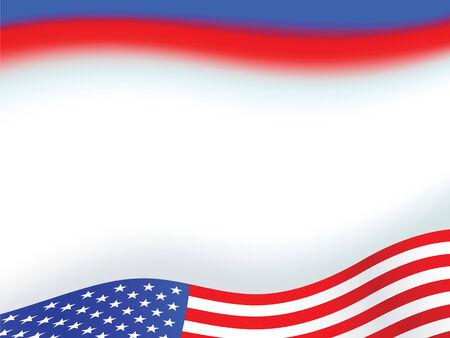 juli: Amerikaanse vlag achtergrond met set van sterren