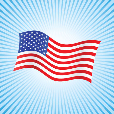 americana: american flag background with set of stars