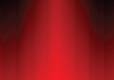 red curtain, vector illustration Stock Vector - 5083102