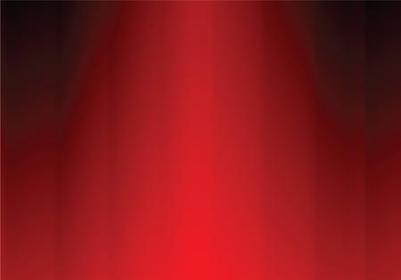 red curtain, vector illustration Stock Vector - 5083102