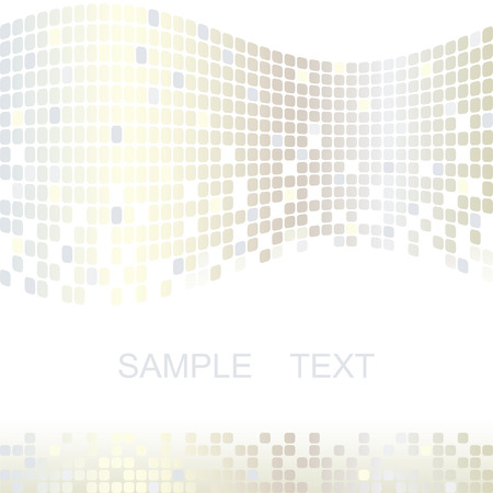 Mosaic color illustration vector design Vector