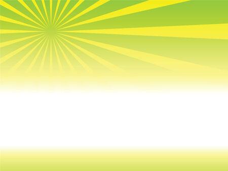 Illustration of background with Sunburst Vector