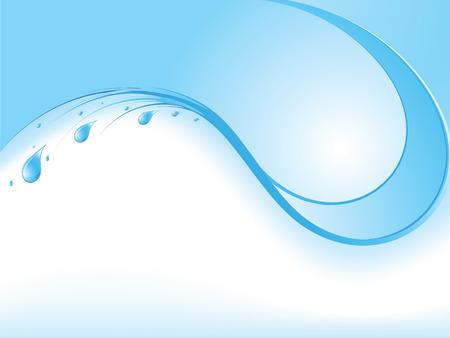 Water druppels - abstracte achtergrond met plaats voor uw tekst  Vector Illustratie