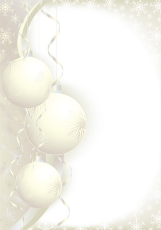 Christmas decoration background with space for text. All elements on separate layers. Vector