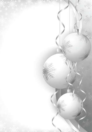 Christmas decoration background with space for text. All elements on separate layers.