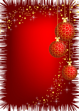 The vector illustration contains the image of christmas background Vector