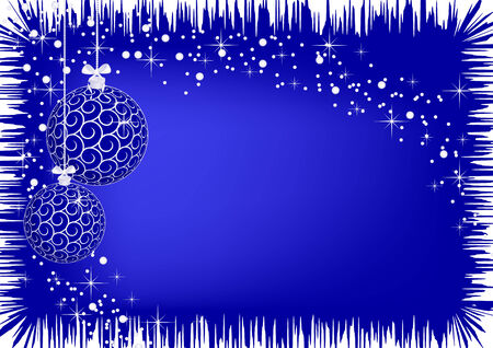 The vector illustration contains the image of christmas blue balls Vector