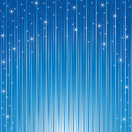 Vector background - snowflakes and stars descending