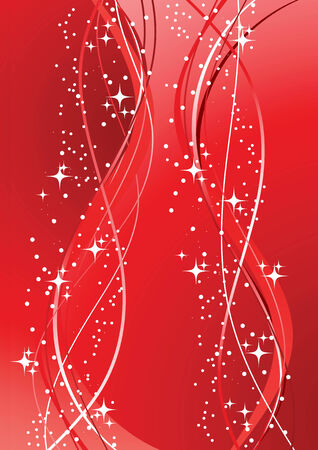The vector illustration contains the image of red decoration Vector