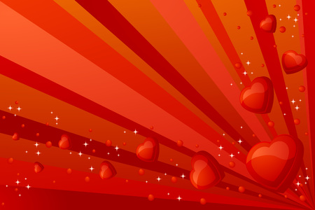Valentine background with many hearts Vector