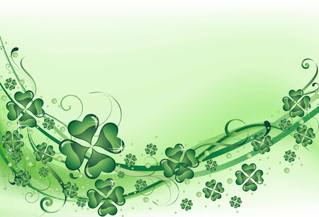 fourleafed: The vector illustration contains the image of St. Patricks background