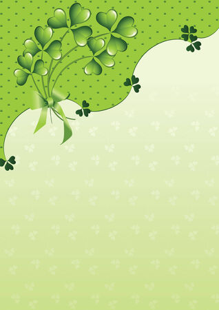 clover background for the St. Patrick's Day Stock Vector - 6389197