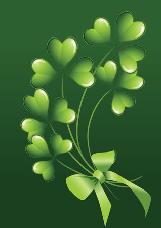 clover background for the St. Patrick's Day Stock Vector - 6389192