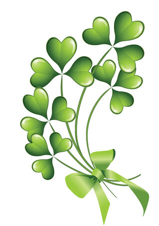 clover banners: clover background for the St. Patricks Day