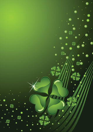 clover background for the St. Patricks Day