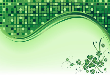 clover background for the St. Patrick's Day Stock Vector - 6389198