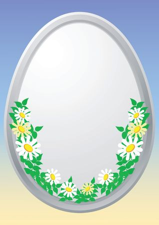 pasqua: Easter egg and with floral elements