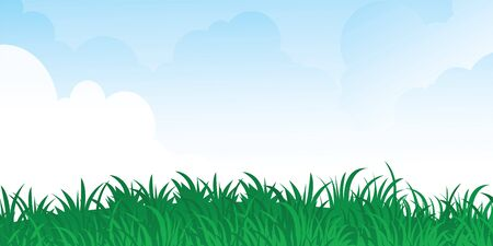 green grass and blue sky. vector Stock Vector - 6617959