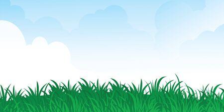 green grass and blue sky. vector Stock Vector - 6617959