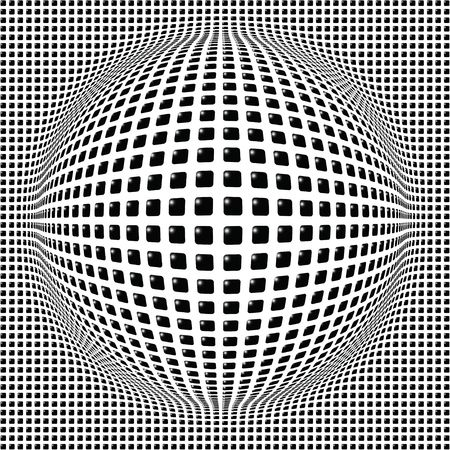 Sphere digital background black, disco ball, nightclub Vector