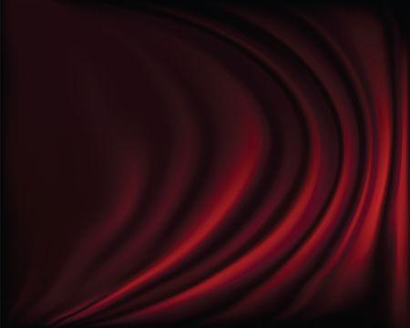 rideau sc�ne: Fragment de rideaux de sc�ne rouge fonc� sur un fond noir